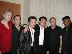 Herman with Richard Marx and Jimmy Page at benefit