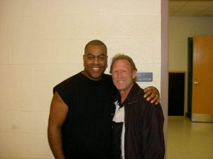 """Herman with legendary bassist for Tower Of Power """"Rocco"""" Prestia"""
