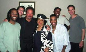 Ruth Brown with Tom Jones and the band