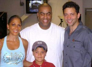 Sheila, Peter Michael, myself and Mini Me