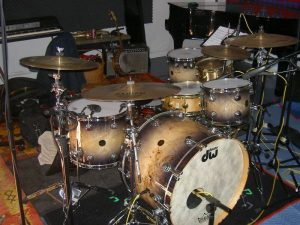 The Studio drum kit from the front